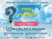 MajorWinnersSinoAngPilipino