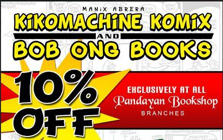 10% OFF – Kikomachine Komiks at Bob Ong Books