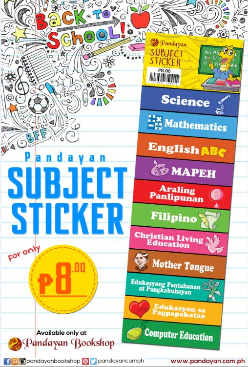 Pandayan Subject Sticker