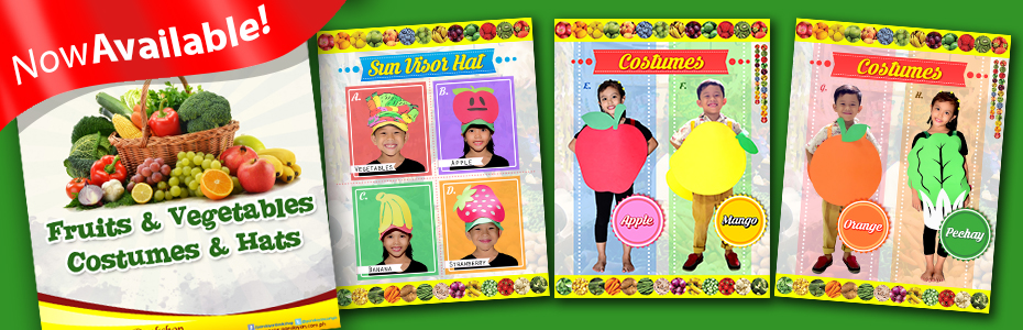 Fruits and Vegetable Hats and Costumes
