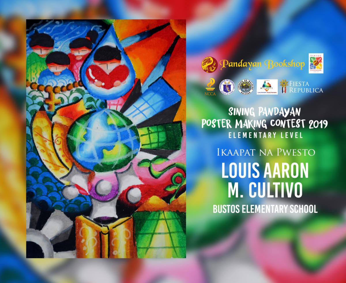 congratulations sa mga mag aaral na nagwagi sa elementary level ng sp poster making contest 2019 na may temang likhang puso alay sa mundo padayon