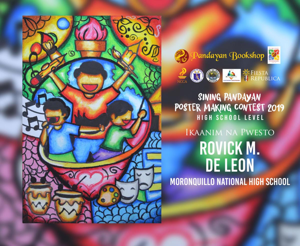 congratulations sa mga mag aaral na nagwagi sa high school level ng sp poster making contest 2019 na may temang likhang puso alay sa mundo padayon