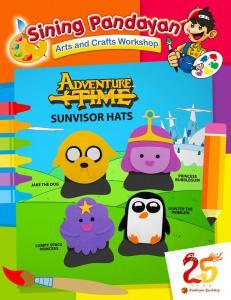 Adventure Time Sunvisor Hats
