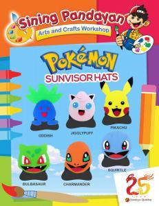 Pokemon Sunvisor Hats