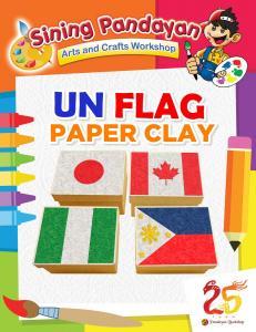 UN Flag Paper Clay